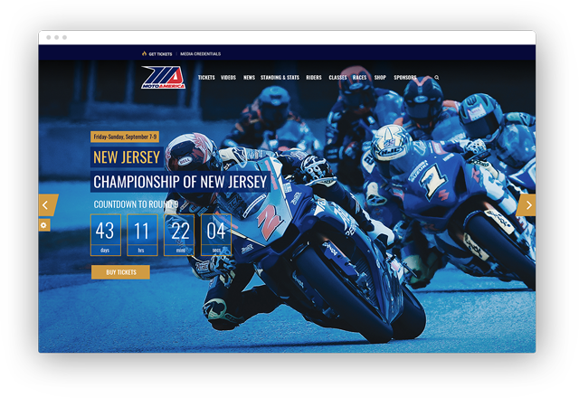 MotoAmerica website by Silicon Drive